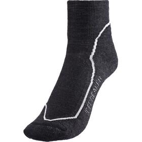 Icebreaker Hike+ Light Mini Socks Women jet heather/snow/black